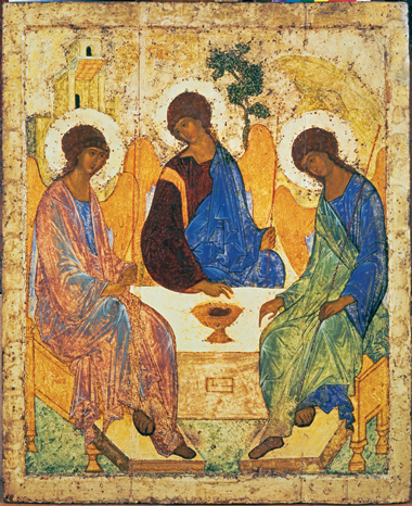 "Rublev's Trinity, early 15th century (56"" x 45""). Photograph: © Scala/Art Resource"
