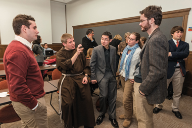 From left: Graduate students Jacob Doss, Janeczko, Augustin Le Phung, Tierney, and Sam Granger. Photograph: Gary Wayne Gilbert