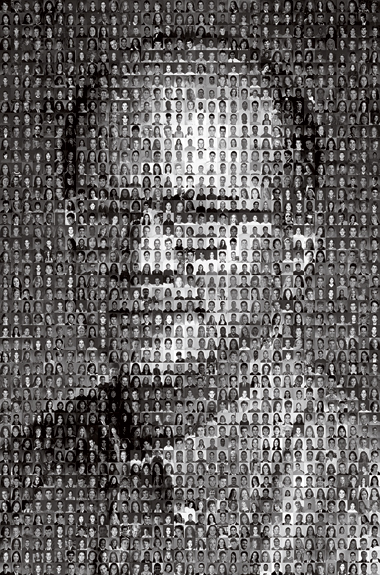 Ames and his students. Photomosaic: Courtesy of William Ames