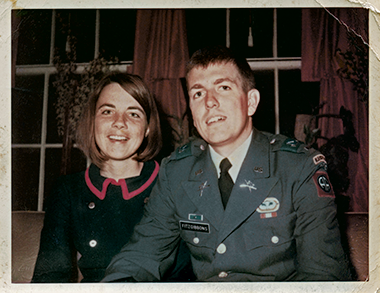 Linda Pickett and Fitzgibbons in 1967, a few months before they wed. Photograph: Courtesy of Joyce Fitzgibbons. Click image to enlarge.
