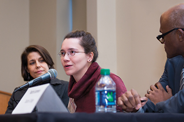 From left: The Lynch School's Coley, sociologist Moorman, and historian Summers. Photograph: Caitlin Cunningham