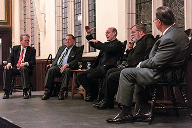 From left: Jacobs, Daley, Rawson, McNellis, and Huse. Photograph: Caitlin Cunningham