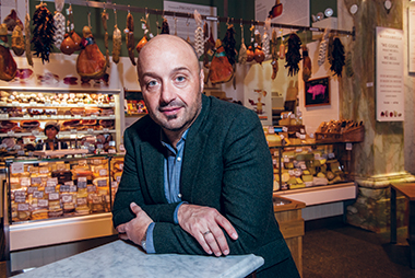 Bastianich, in New York City's Eataly. Photograph: Lee Pellegrini