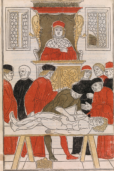 Woodcut illustration from a medical book printed in Venice in 1494. The Metropolitan Museum of Art