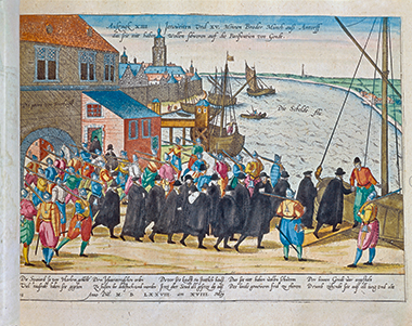 Expulsion of Jesuits from Antwerp, Belgium, in 1773. Image: © DeA Picture Library / Art Resource, New York. Click image to enlarge.